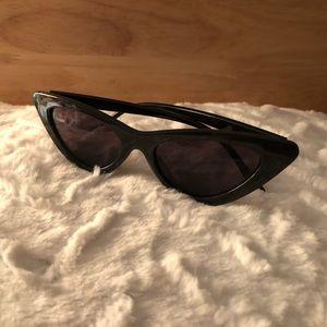 Cat Eye Sunglasses - Black